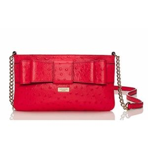 Kate Spade Ostrich Crossbody handbag Purse Rose